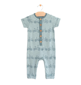 City Mouse City Mouse | Bicycle Button Romper