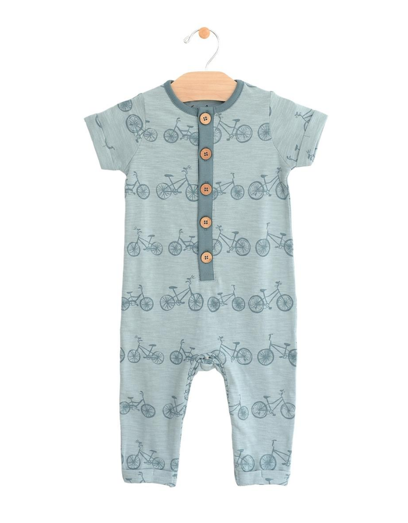 City Mouse City Mouse   Bicycle Button Romper