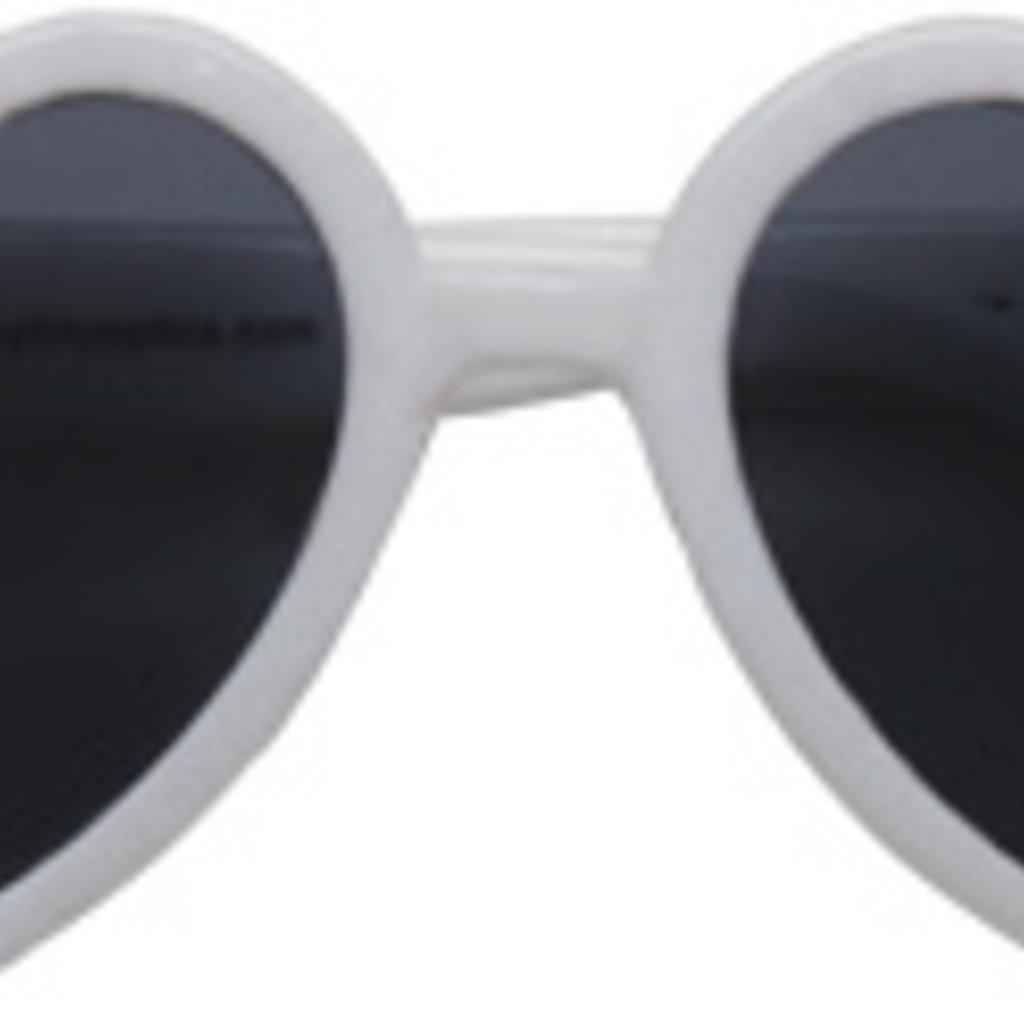 Hannah Heart Toddler Sunglasses, White, 2-4yrs