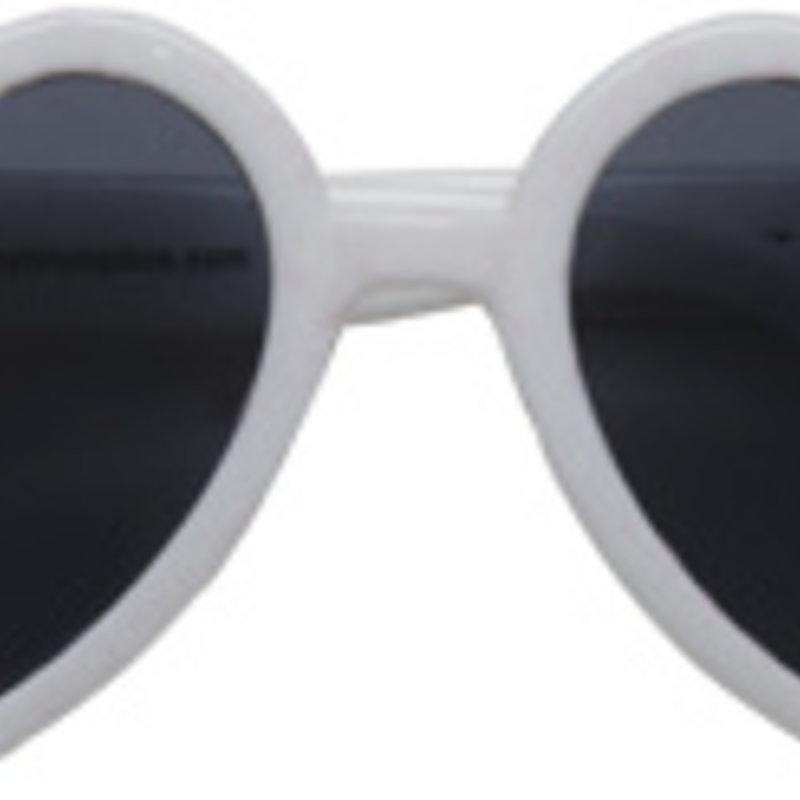 Hannah Heart Toddler Sunglasses, White