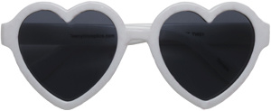 Hannah Heart Toddler Sunglasses, White
