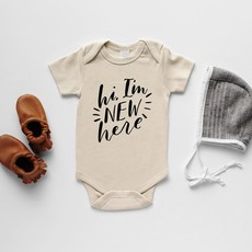 The Oyster's Pearl   New Here Onesie
