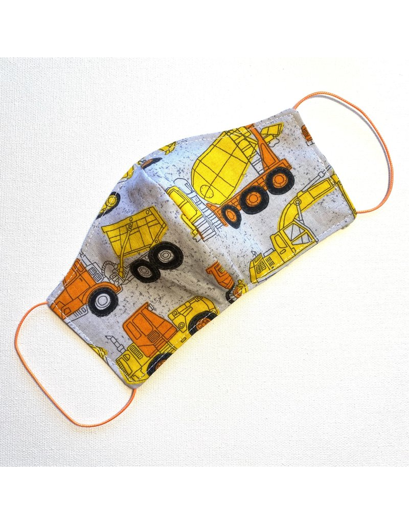 Construction Cotton Face Mask for Kids