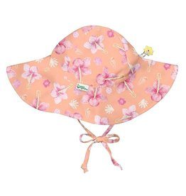 I Play Green Sprouts | Full Brim Hibiscus Sunhat