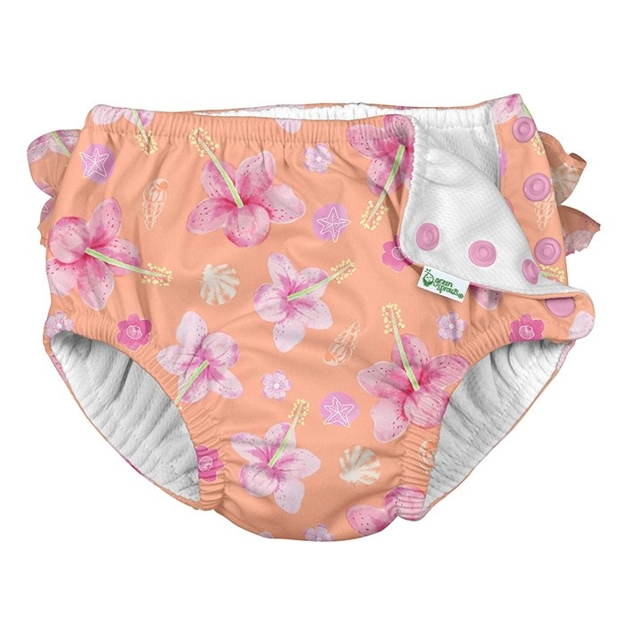 I Play Green Sprouts | Ruffle Swim Diaper