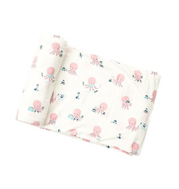 Angel Dear Angel Dear | Pink Octopus Bamboo Jersey Swaddle