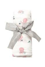 Angel Dear Angel Dear   Pink Octopus Bamboo Jersey Swaddle