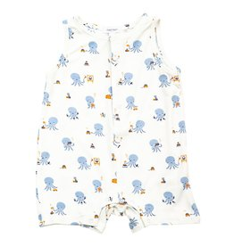 Angel Dear Angel Dear | Blue Octopus Sleeveless Shortall