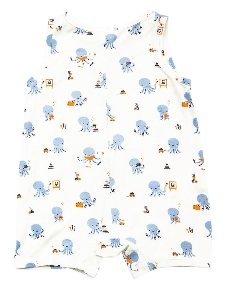 Angel Dear Angel Dear | Blue Octopus Sleeveless Shortall