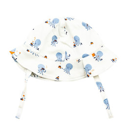 Angel Dear Angel Dear | Blue Octopus Jersey Sun Hat