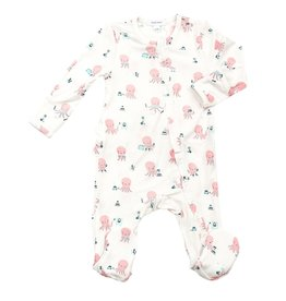Angel Dear Angel Dear | Pink Octopus Ruffle Zipper Footie