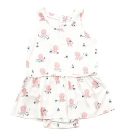 Angel Dear Angel Dear | Pink Octopus Skirted Bodysuit
