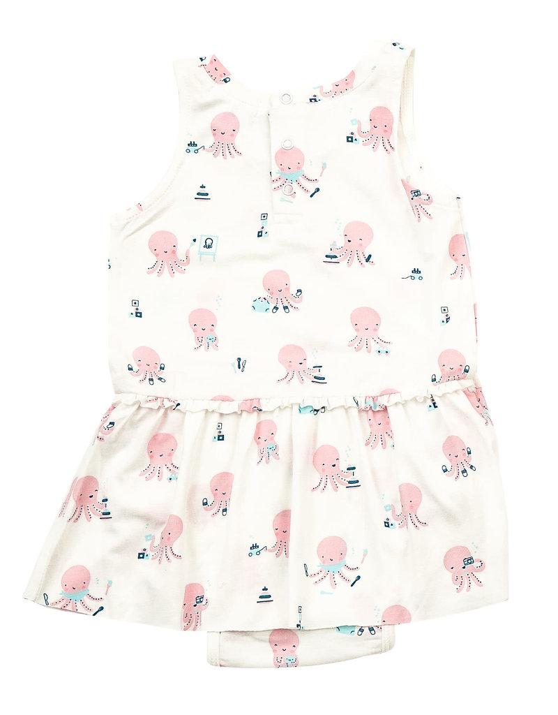 Angel Dear Angel Dear | Pink Octopus Skirted Bodysuit