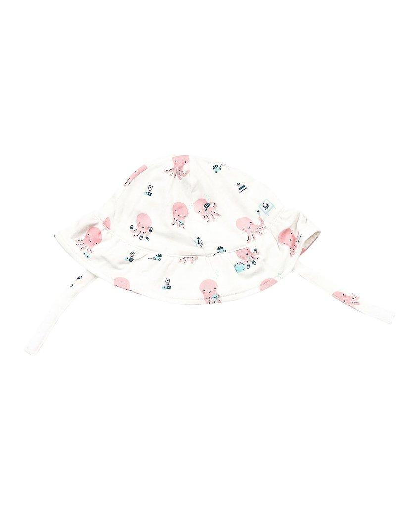 Angel Dear Angel Dear | Pink Octopus Jersey Sun Hat