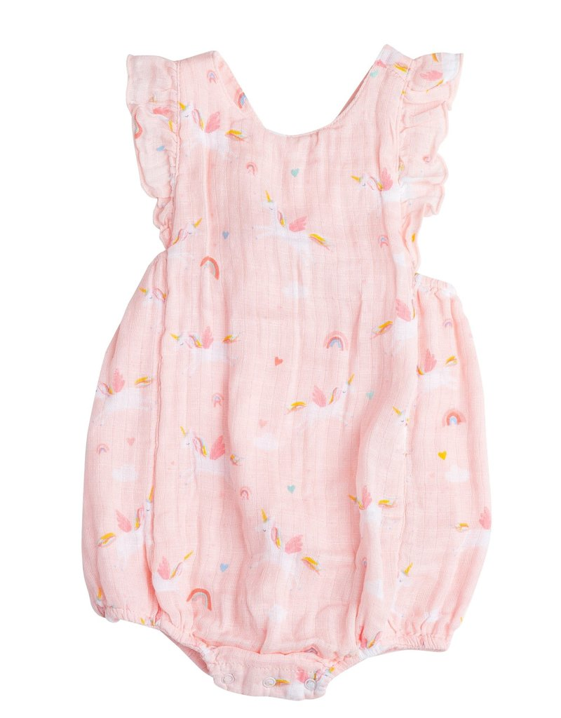 Angel Dear Angel Dear | Unicorns Muslin Sunsuit