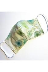 Green Dandelion Cotton Face Mask for Kids