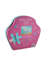 Floss & Rock 40 Piece Shaped Box Puzzle | Mermaid Glitter