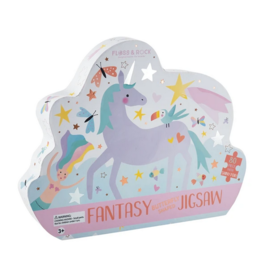 Floss & Rock 80 Piece Shaped Box Puzzle | Fantasy Unicorn
