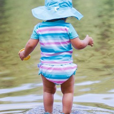 Green Sprouts | Full Brim Solid Sunhat