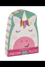 Floss & Rock 12 Piece Shaped Box Puzzle | Rainbow Unicorn