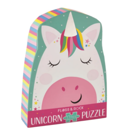 Floss & Rock 12 Piece Shaped Box Puzzle | Rainbow Unicorn