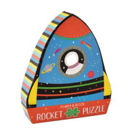 Floss & Rock 12 Piece Shaped Box Puzzle | Rocket