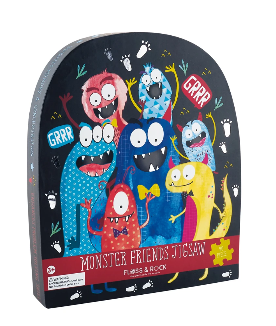 Floss & Rock 40 Piece Shaped Box Puzzle | Monster