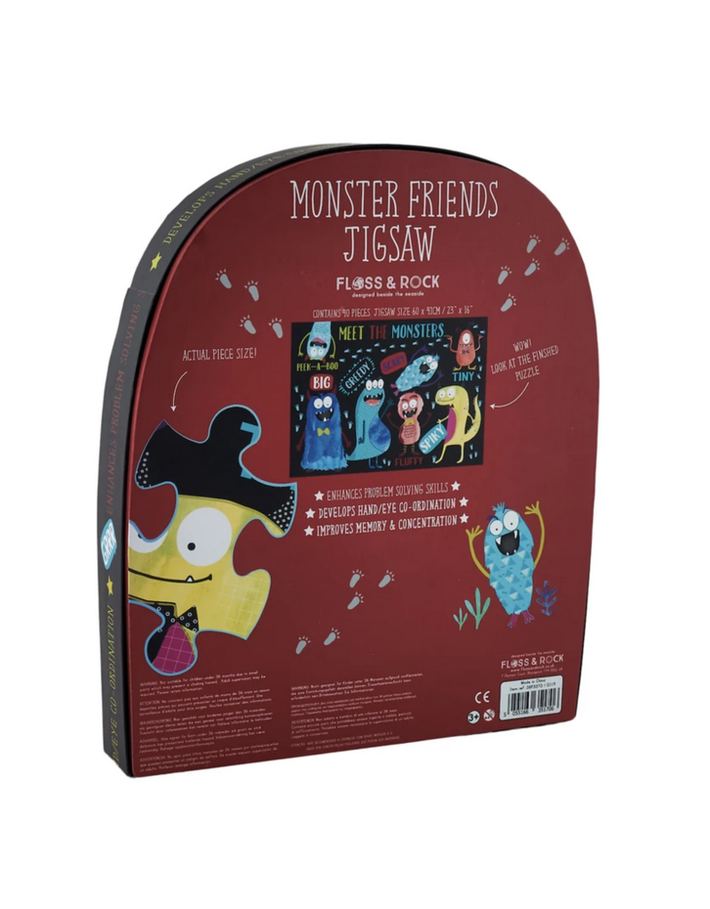 Floss & Rock 40 Piece Shaped Box Puzzle   Monster