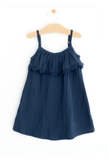 City Mouse City Mouse | Muslin Frill Dress in Midnight