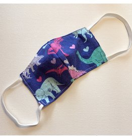 Purple Dinosaurs Cotton Face Mask for Kids