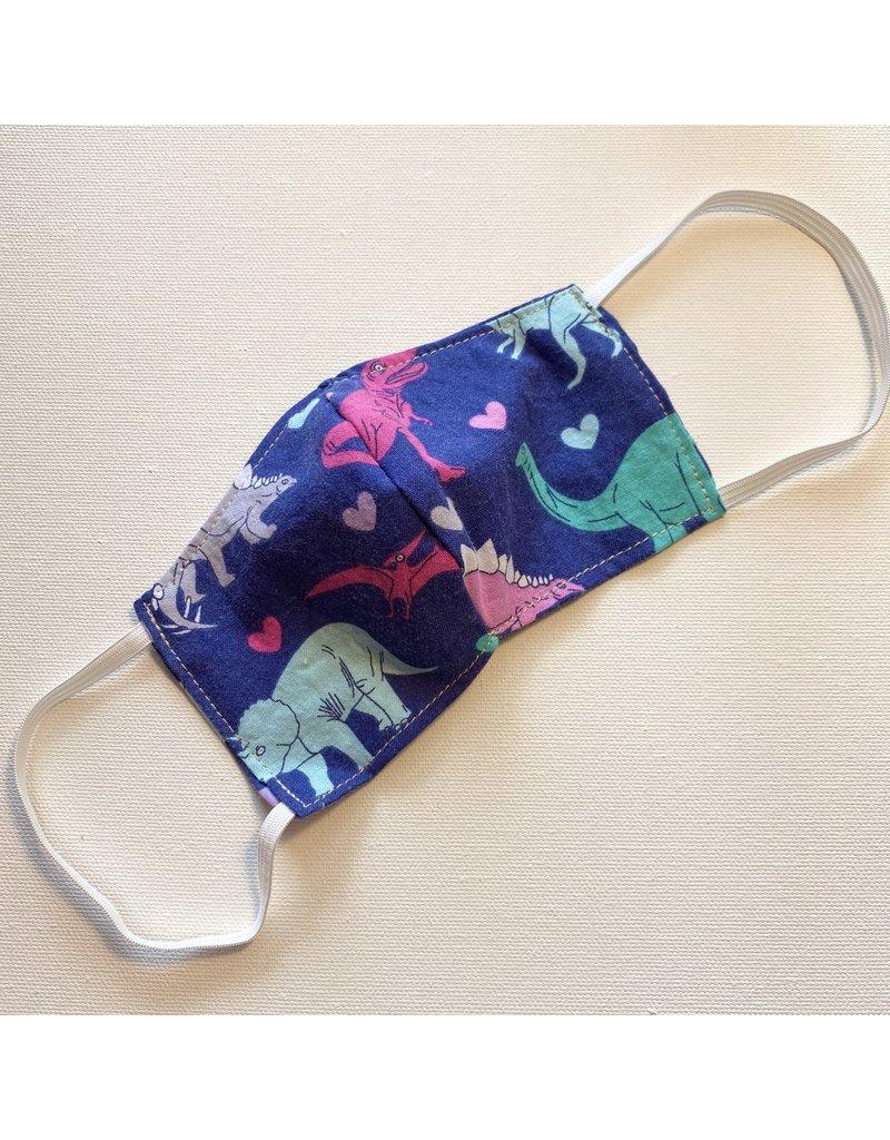 Purple Dinosaurs Cotton Face Mask for Kids