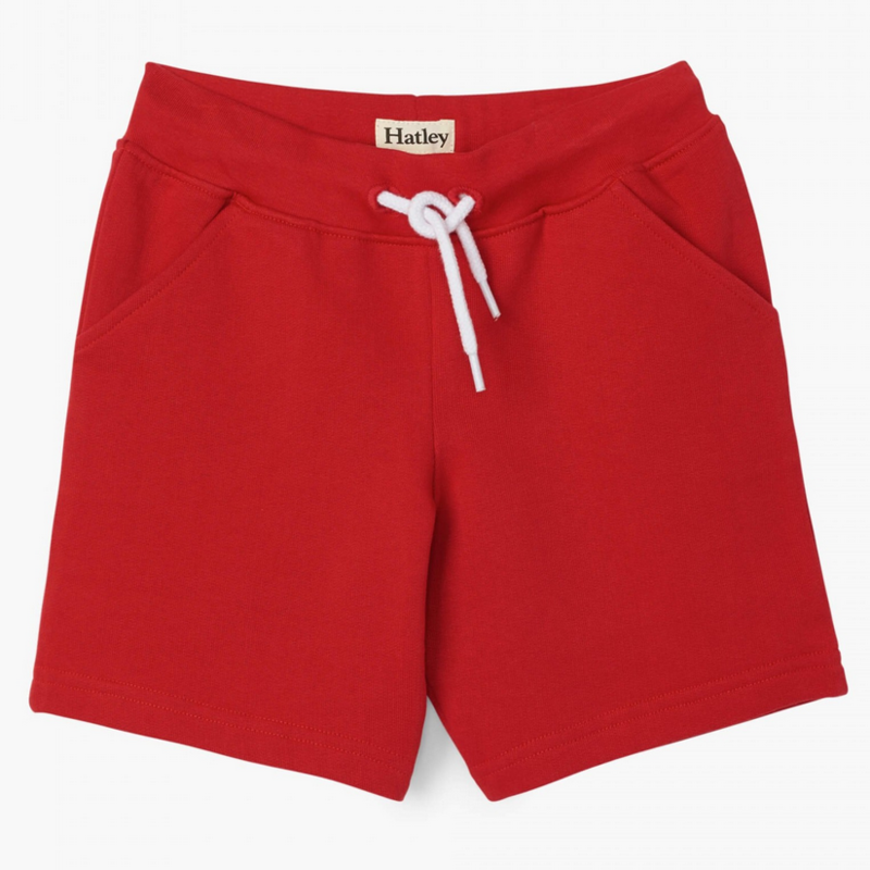 Hatley | Red Terry Shorts
