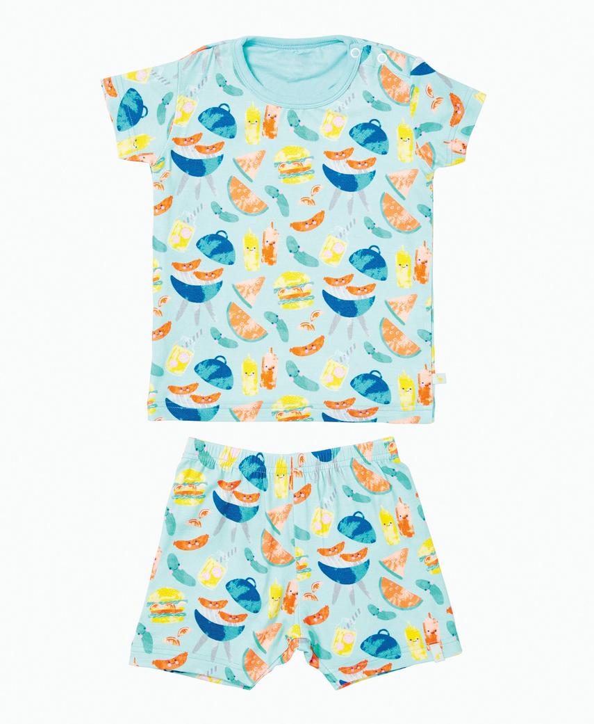 Clover Kids Clover Kids | BBQ Two Piece Pajama