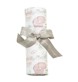 Angel Dear Angel Dear | Pink Elephant Bamboo Jersey Swaddle