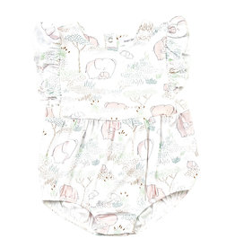 Angel Dear Angel Dear | Pink Elephant Ruffle Sunsuit