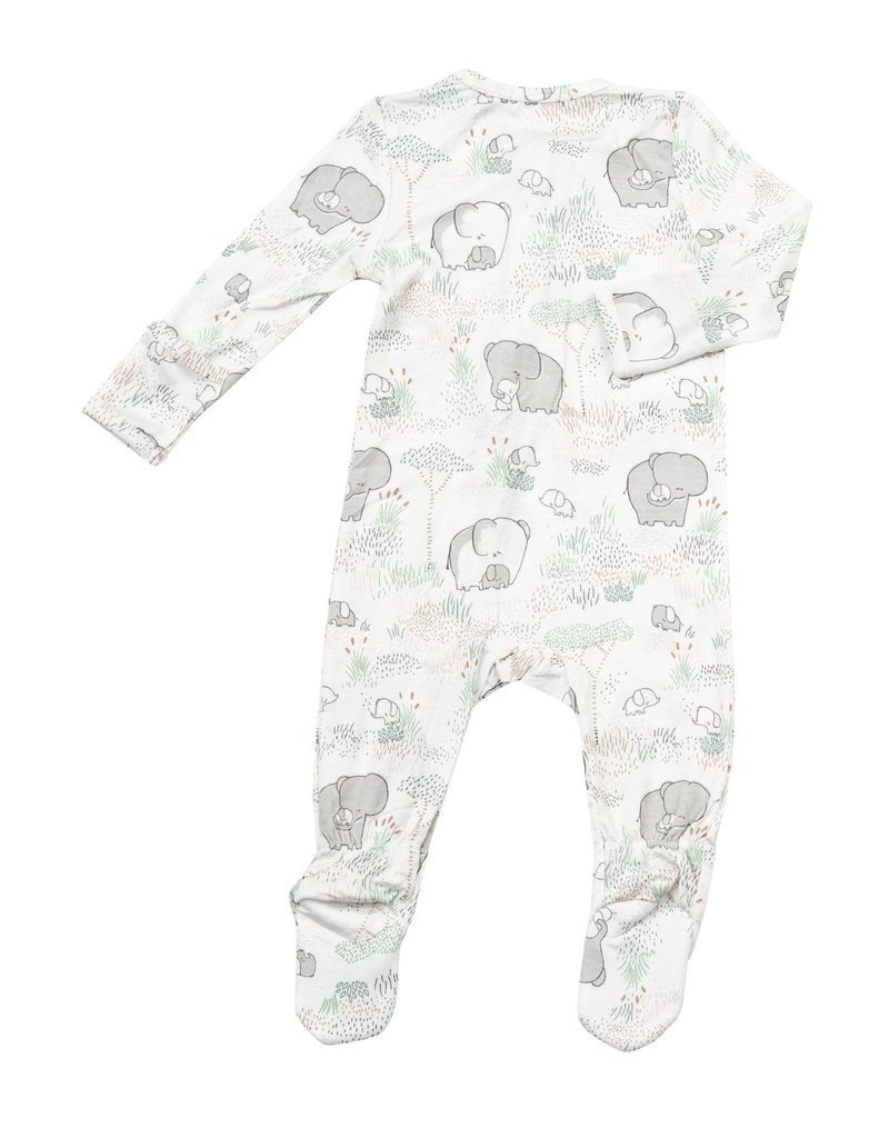 Angel Dear Angel Dear | Grey Elephant Zipper Footie