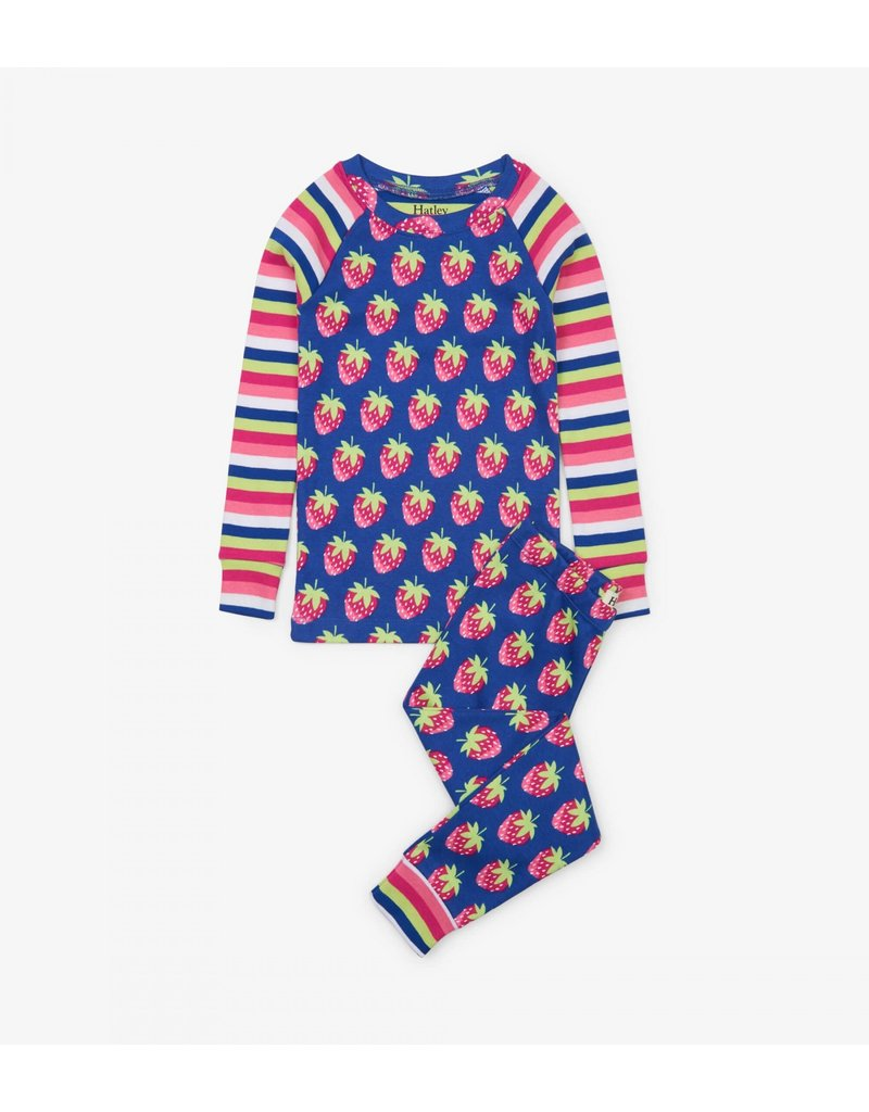 Hatley Hatley | Strawberries Organic Pajama Set