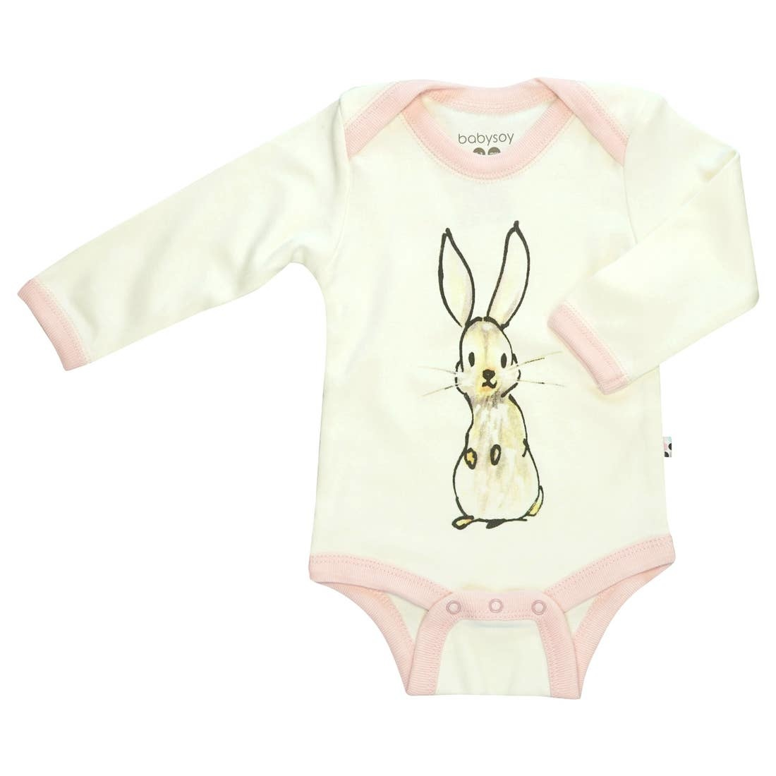 Babysoy Janey Baby Goodall Animal Body Suit- Rabbit