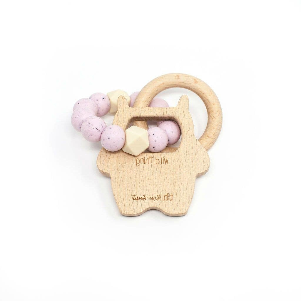 Three Hearts Modern Teething Accessories Three Hearts Wild Thing Teething Rattle