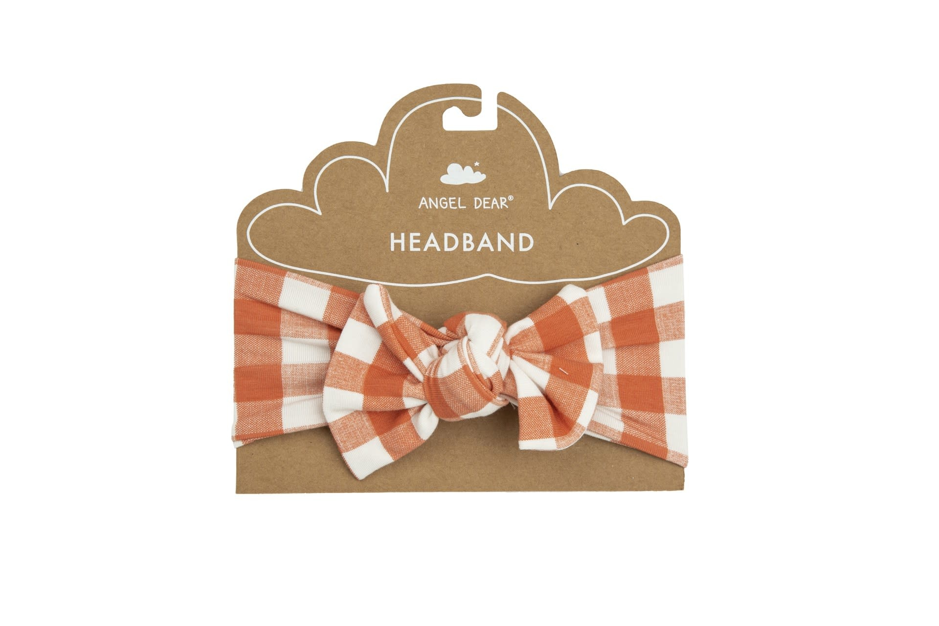 Angel Dear Angel Dear |  Gingham Pumpkin Headband