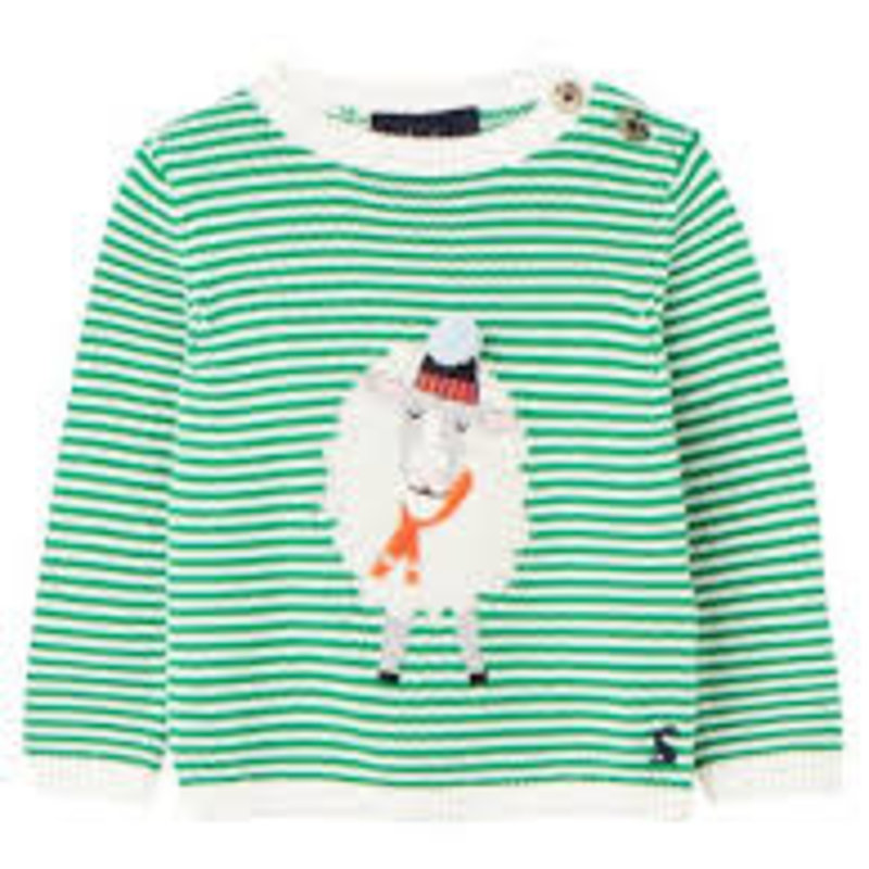 Joules   Green Sheep Sweater