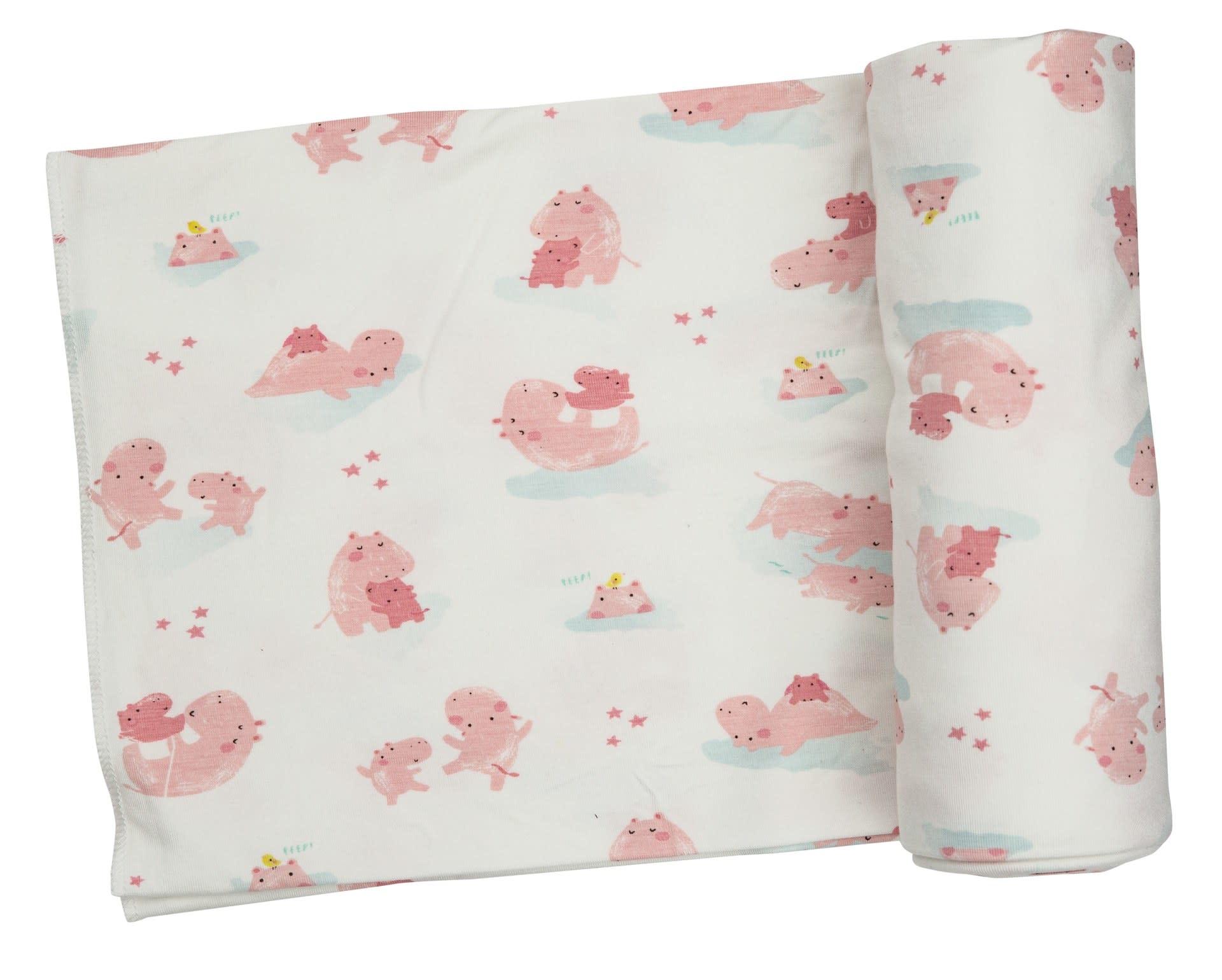 Angel Dear Angel Dear   Hippo  Swaddle Blanket