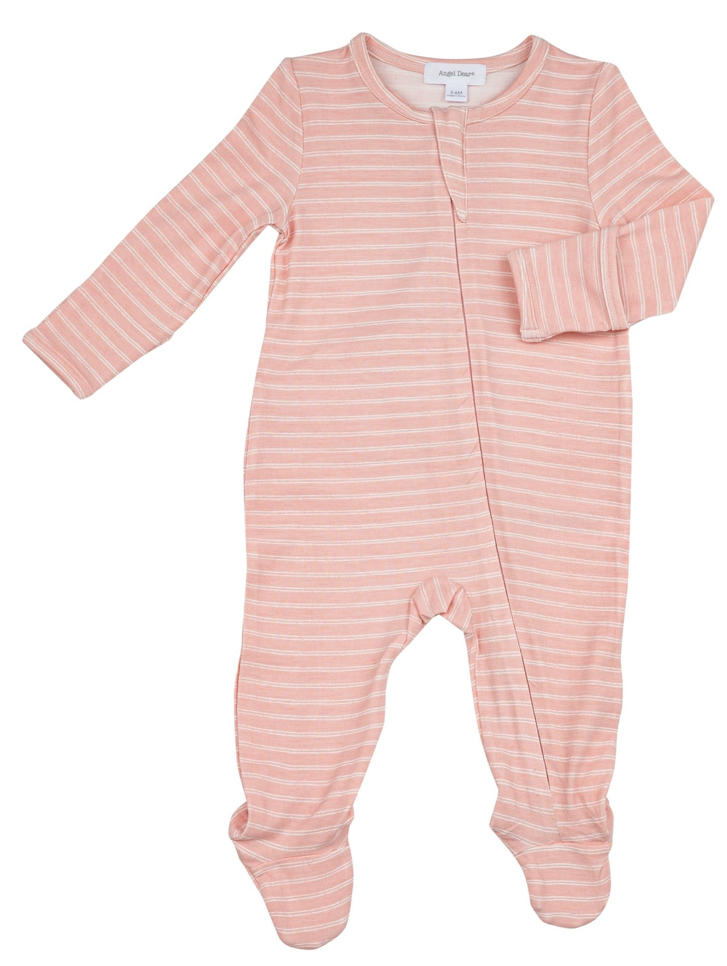 Angel Dear Angel Dear | Pink Stripe Zipper Footie