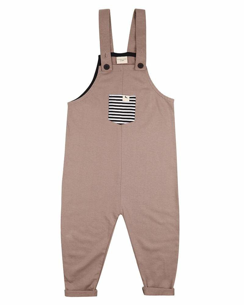Turtledove London Turtledove London | Stone Easyfit Dungarees