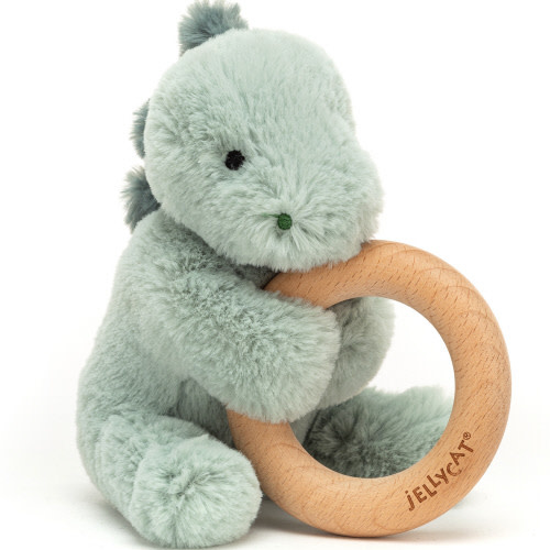 JellyCat Jellycat | Puffles Dino Wooden Ring Toy