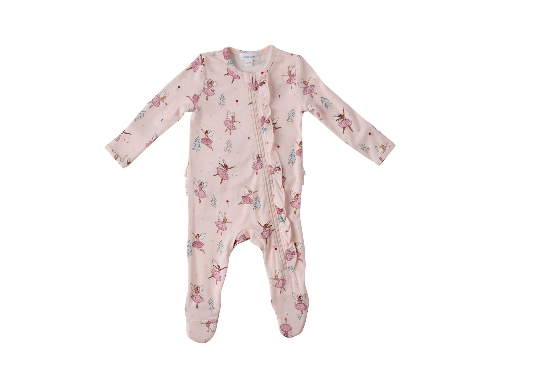 Angel Dear Angel Dear | Sugar Plum Fairies Ruffle Zipper Footie