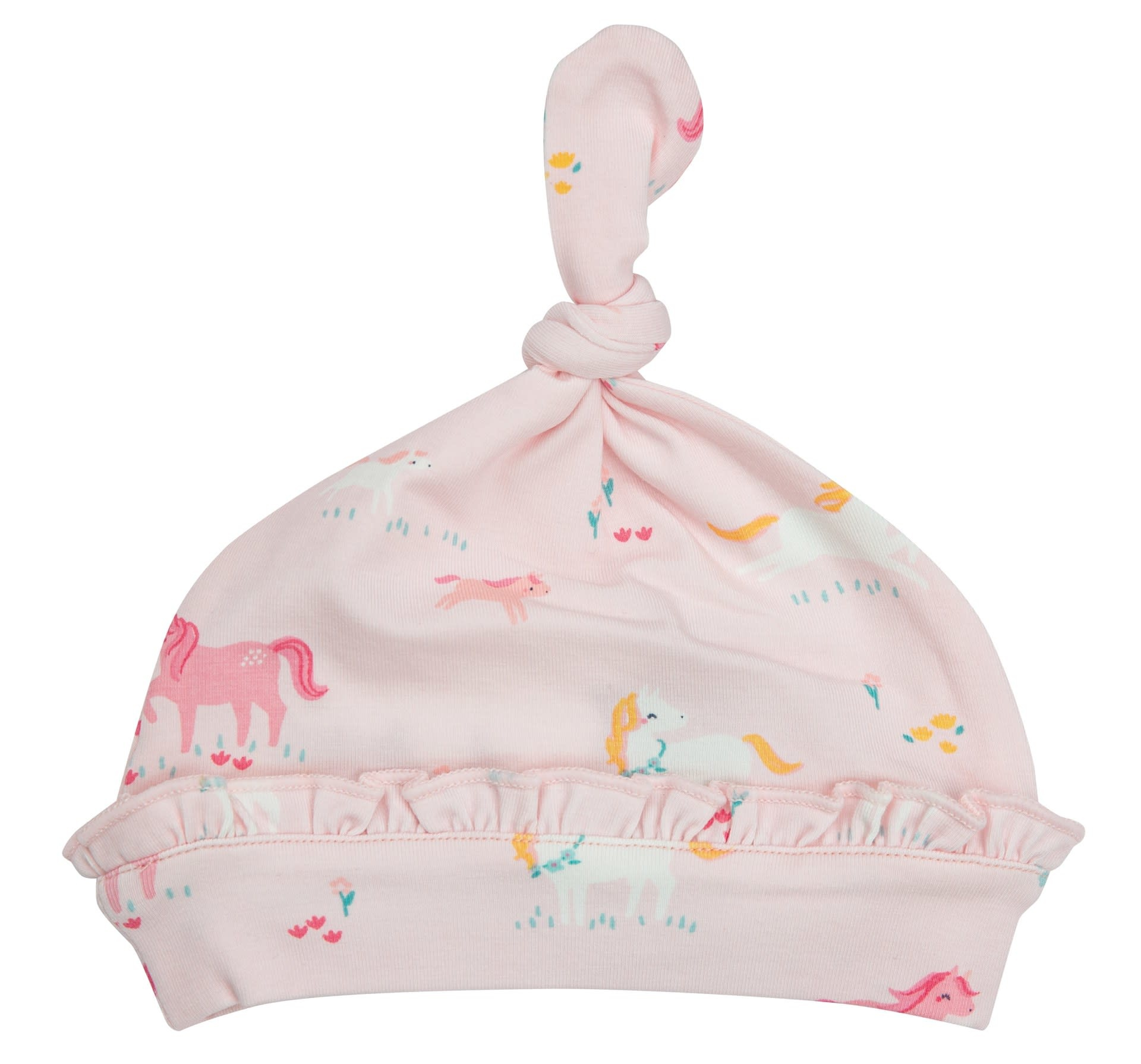 Angel Dear Angel Dear | Girl Ponies Ruffle Knotted Hat