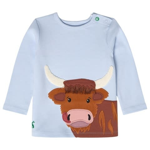 Joules Joules | Blue Cow Long Sleeve Tee