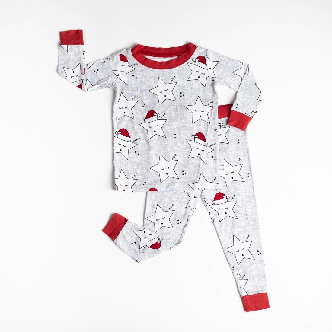 Little Sleepies Little Sleepies Sleepy Santa Stars Bamboo Viscose Pajama Set