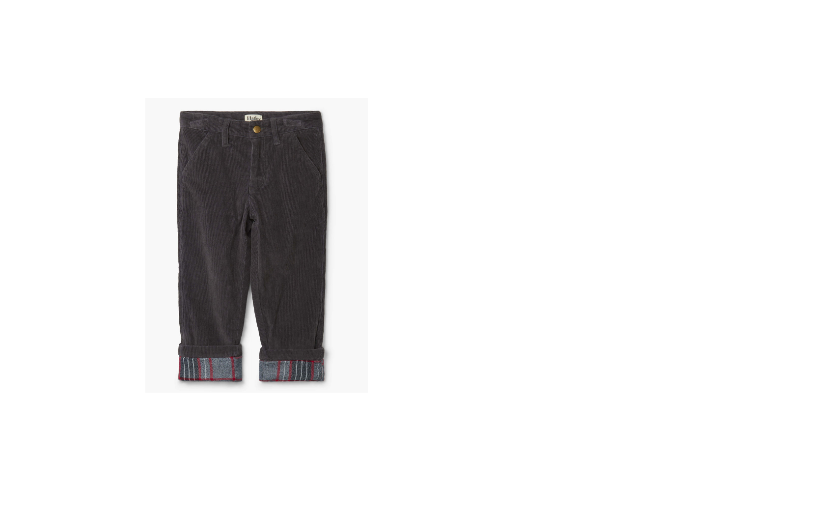 Hatley Hatley | Grey Stretch Cord Pant